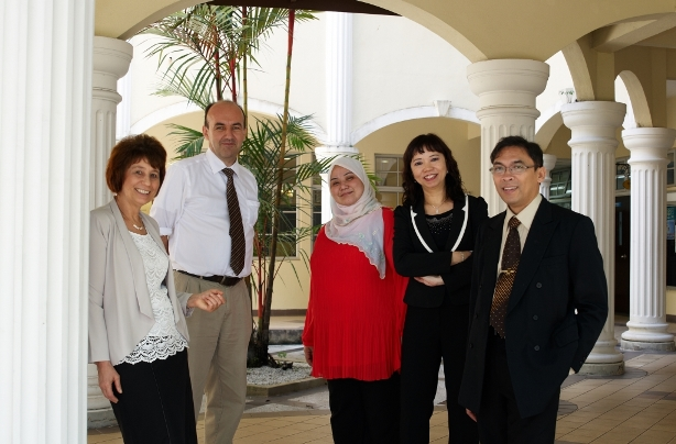 Malaysian Cochrane Network Members, from left: Prof Jackie Ho, PMC; Prof Hans Van Rostenberghe, USM; Dr Nor Asiah, IMR; Assoc Prof Moy Foong Ming, UM; Prof Adi Negara Lufti, MMMC.